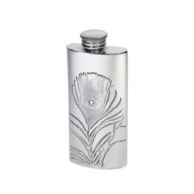 Peacock Purse Flask 2oz