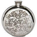 Love Skulls Round Flask