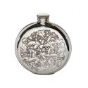 Love Skulls Round Pewter Flask