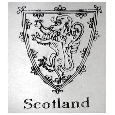Round Lion of Scotland Flask