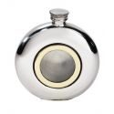 Round Porthole Pewter Flask