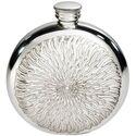 Round Sunfish Pewter Flask