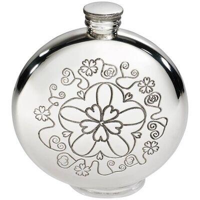Round Yorkshire Rose Flask