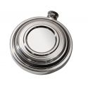 Clay Shot Pewter Flask