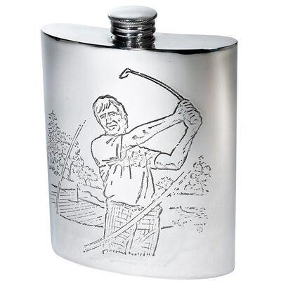 Golf Scene Hip Flask
