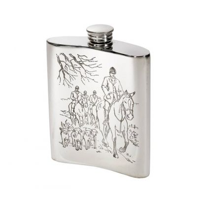 Hunting Scene Hip Flask