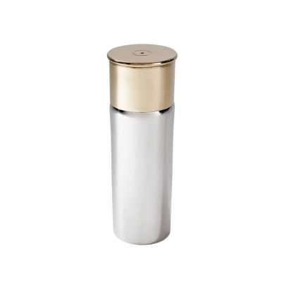 Pewter and Brass Cartridge Flask