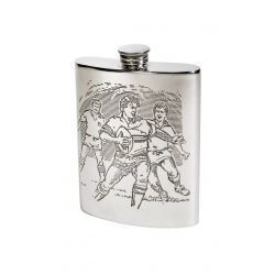 Rugby Scene Hip Flask