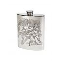 Rugby Scene Pewter Hip Flask