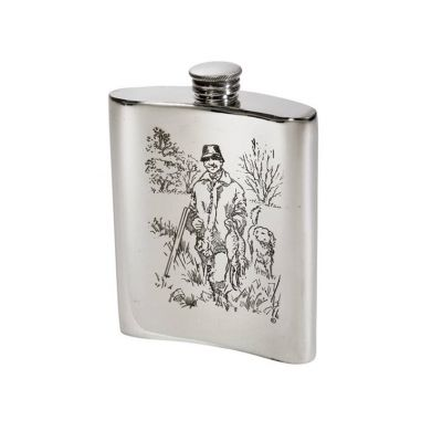 Shooting Scene Hip Flask