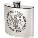 Best Man Pewter Kidney Hip Flask