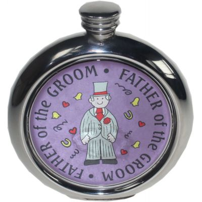 Father of the Groom Picture Flask