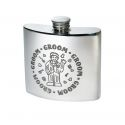 Groom Pewter Kidney Hip Flask
