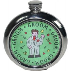 Groom Picture Flask