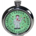 Groom Pewter Picture Flask