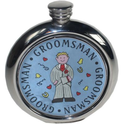 Groomsman Picture Flask