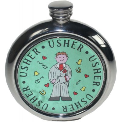 Usher Picture Flask