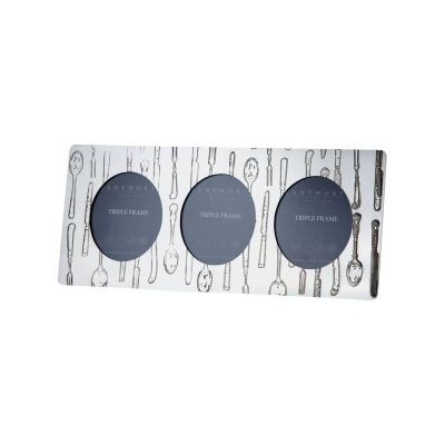 Knife Fork Spoon Triple Photo Frame