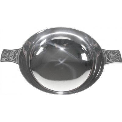 Celtic Silver Plated Quaich (4 inch)