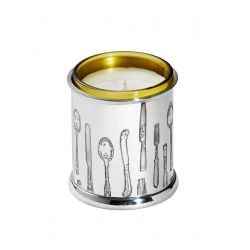 Knife Fork Spoon Pewter Candle Votive