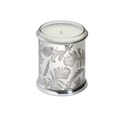 Peacock Patterned Candle Votive