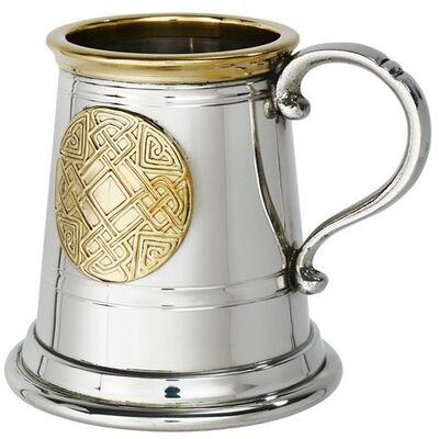Celtic Gold Quater Pint Tankard