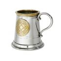 Celtic Gold Quater Pint Pewter Tankard