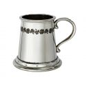 Shamrock Quarter Pint Pewter Mug