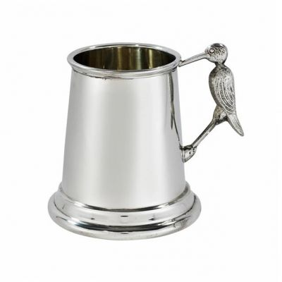 Stork Handle Pewter Mug
