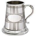 Tartan Quarter Pint Pewter Mug