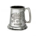 Welsh Dragon Quarter Pint Pewter Tankard