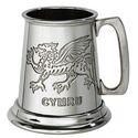 Welsh Dragon Quarter Pint Pewter Tankard