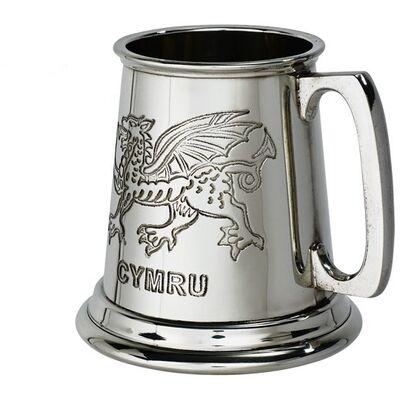 Welsh Dragon Quarter Pint Tankard