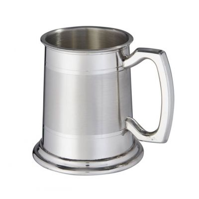 Double Lined Part Satin Tankard Half Pint
