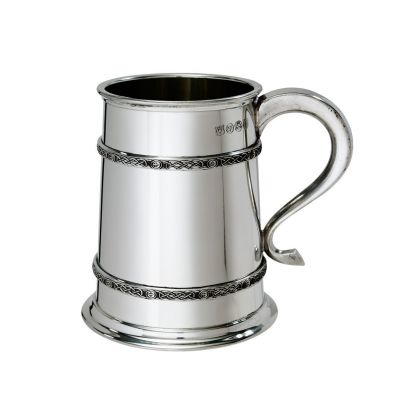 Double Celtic Bands Tankard