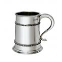 Double Celtic Bands Pewter Tankard