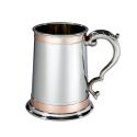 Double Copper Band Monarch Pewter Tankard