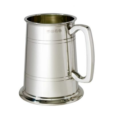 Double Lined Glass Base Tankard