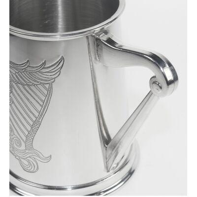 Irish Harp Pewter Tankard