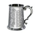 Kings and Queens Pewter Tankard