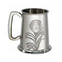 Peacock Pewter Tankard
