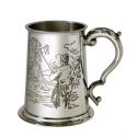 Fishing Scene Pewter Tankard