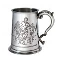 Football Scene Pewter Tankard