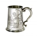 Golf Scene Pewter Tankard