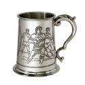 Rugby Scene Pewter Tankard