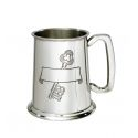 18 key Stamp Pewter Tankard