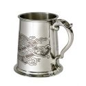 Celtic Birds Pewter Tankard