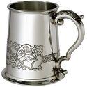 Celtic Dragon Pewter Tankard