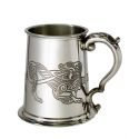 Celtic Lion Pewter Tankard