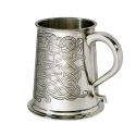 Celtic Pattern Pewter Tankard